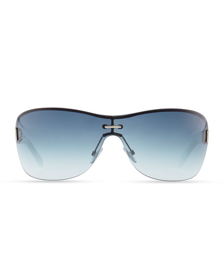 Flo Gradient Shield Sunglasses, Blue/White