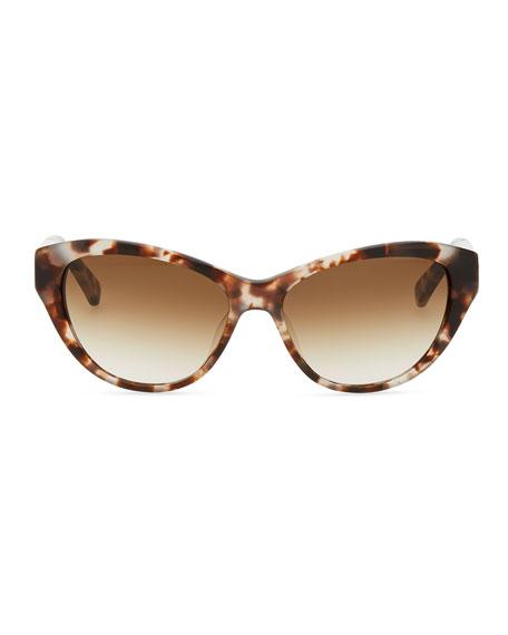 della cat-eye sunglasses, tortoise