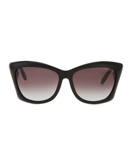 Square Cat Eye Sunglasses  tom ford lana square cat eye sunglasses