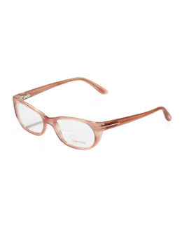 Tom Ford Soft Round Fashion Glasses, Rose Golden