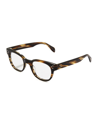 Oliver Peoples Afton Rounded Fashion Glasses, Cocobolo