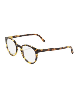 Stella McCartney Round Fashion Glasses, Spotty Tortoise