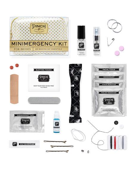 Polka Dot Minimergency Kit for Brides, Ivory/Gold