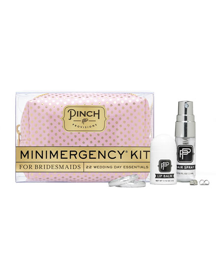 Polka Dot Minimergency Kit for Bridesmaids, Pink