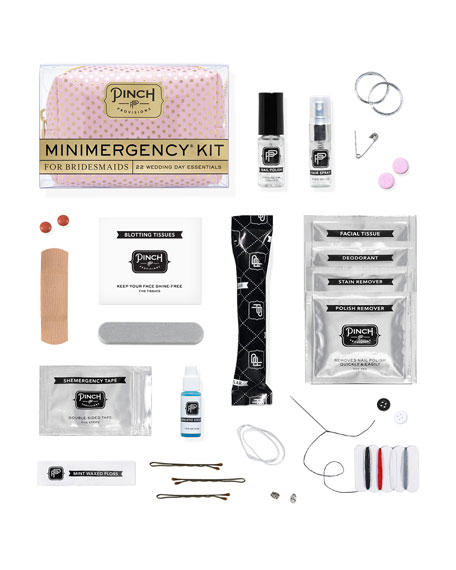 Polka Dot Minimergency Kit for Bridesmaids, Pink