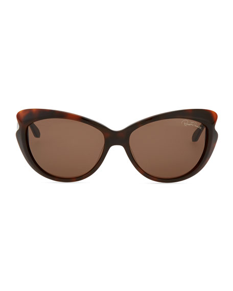 Pointed-Temple Sunglasses, Red