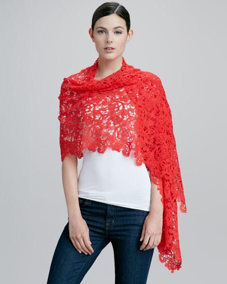 Lace-Crochet Scarf, Cinnabar