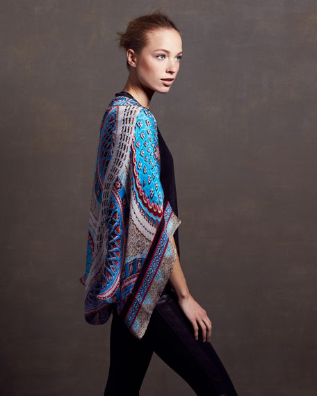 Printed Satin Shrug