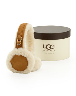 UGG Australia Leather &  Speaker/Headphone Earmuffs, Chestnut