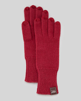 UGG Australia Knit Smart Gloves, Sangria