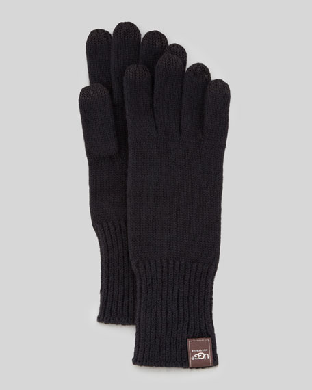 Knit Smart Gloves, Black