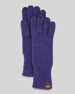UGG Australia Knit Smart Gloves, Purple
