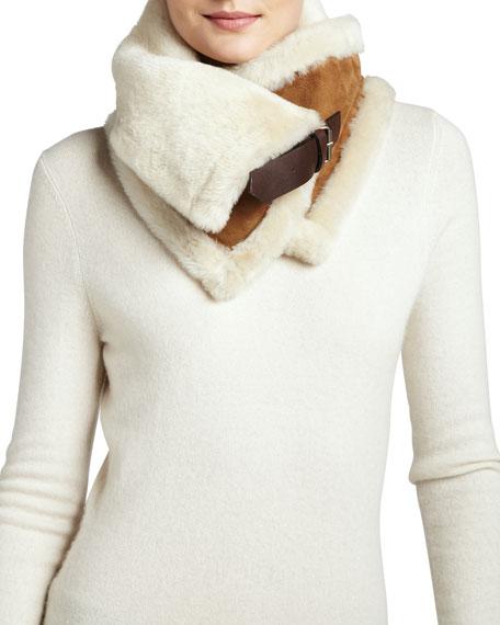 Uptown  Fur Snood, Chestnut