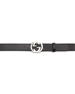 Gucci Leather Belt with GG Buckle, Back