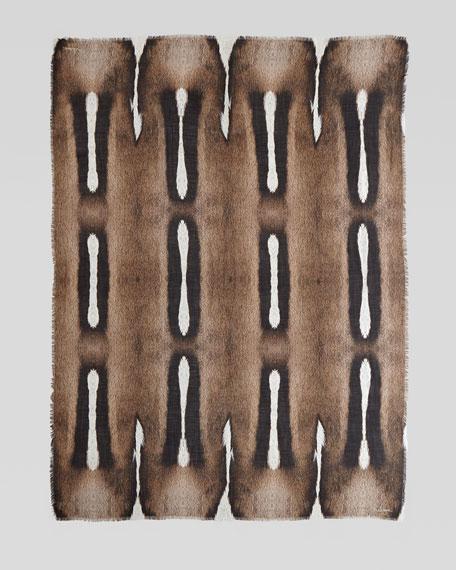 Springbok-Print Cashmere Scarf