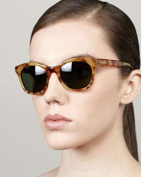 Bancroft Sunglasses, Golden Amber Tortoise