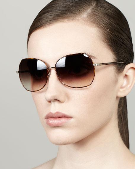Yadiell Butterfly Sunglasses, Light Tortoise