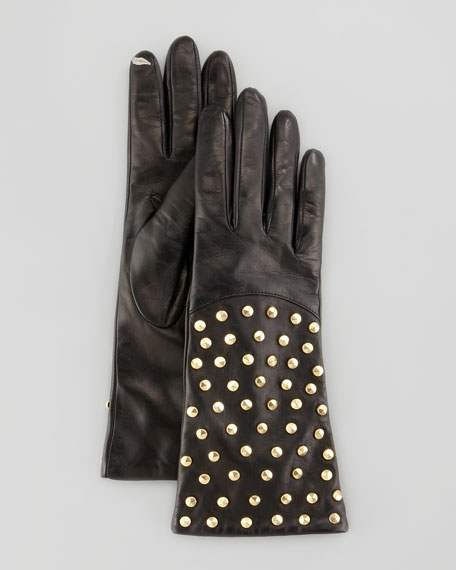 Studded Leather Connect Gloves