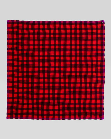 Scarlette Plaid Scarf, Cranberry
