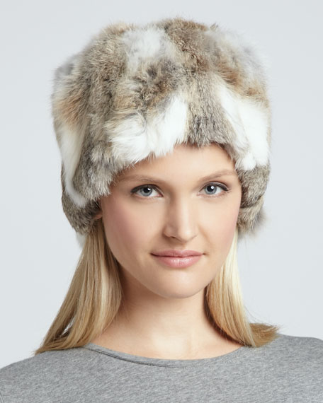 Rabbit Fur Hat, Natural