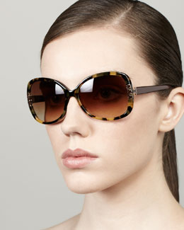 Tory Burch T-Logo-Temple Butterfly Sunglasses