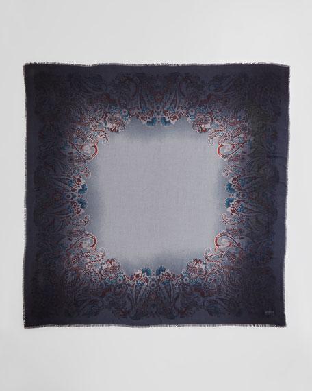 Paisley-Print Square Scarf