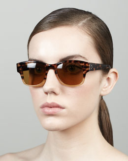 Oliver Peoples Jannsson Two-Tone Sunglasses, Tortoise