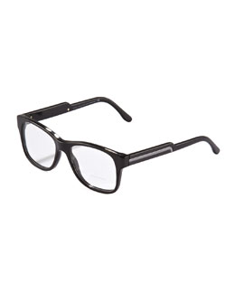 Stella McCartney Oversized Square Fashion Sunglasses, Black