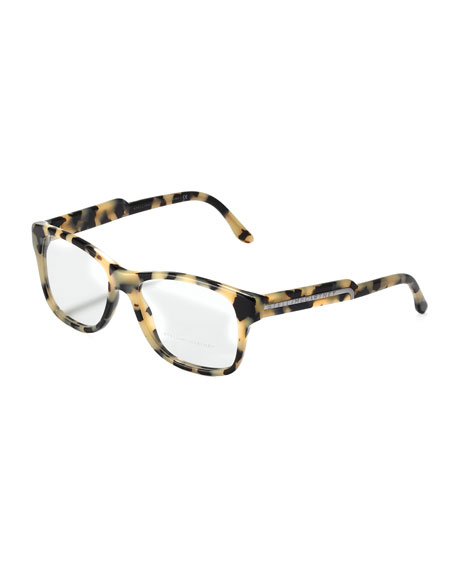 Oversized Square Frame Fashion Glasses, Gray Tortoise