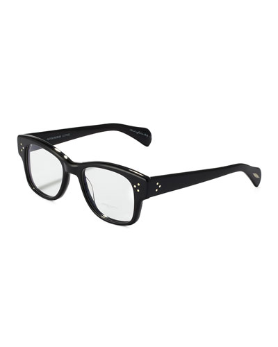 Oliver Peoples Jannsson Large Square Fashion Glasses, Black