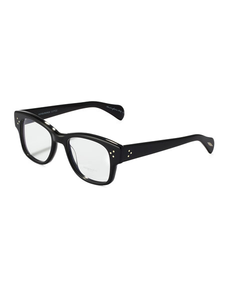 Jannsson Large Square Fashion Glasses, Black