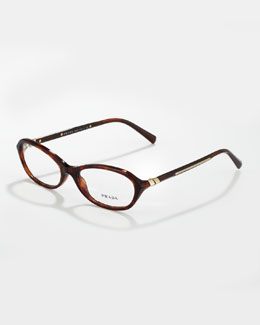 Prada Oval Fashion Glasses, Havana