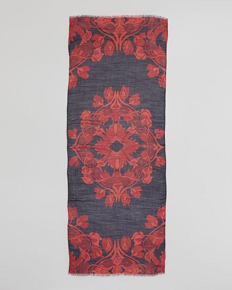 Mirrored Calla Scarf, Black/Red