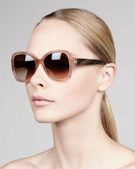 Gradient Butterfly Sunglasses, Pink