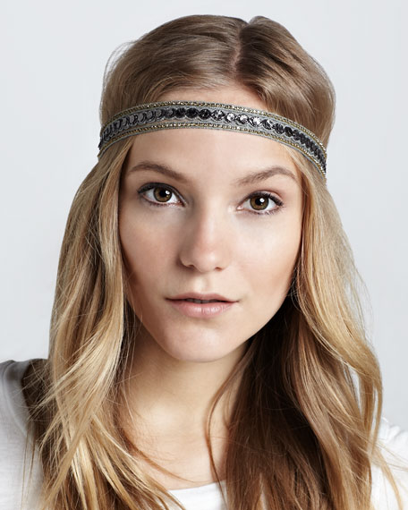 Embellished Triple-Strand Headband