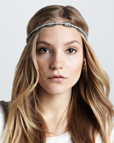 Notched Two-Tone Crystal Headband