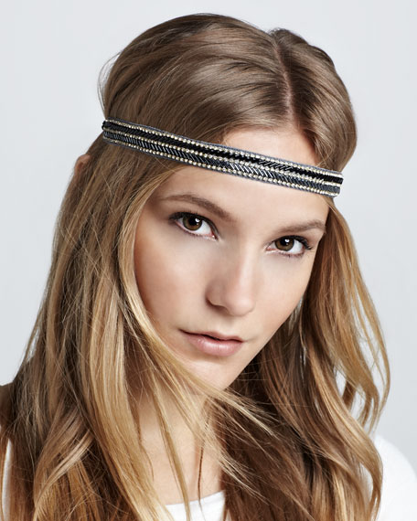 Embellished Arrow-Bead Headband
