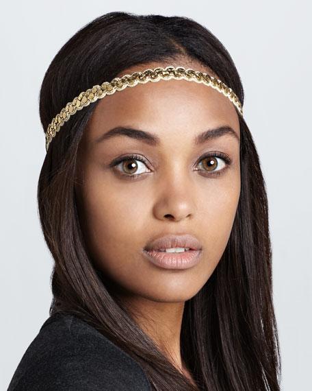 Simple Disc-Embellished Headband