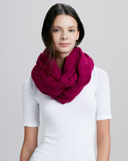 Hat Attack Everyday Loop Infinity Scarf, Raspberry
