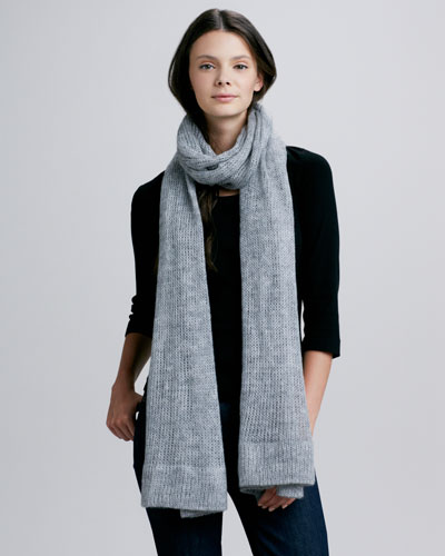 Hat Attack Long Scarf, Charcoal