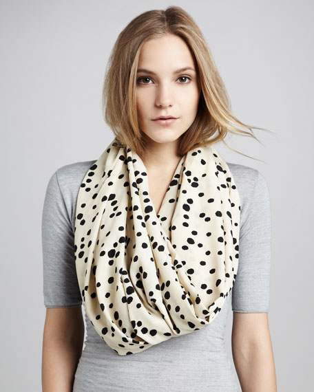 Ink Dot-Print Infinity Scarf