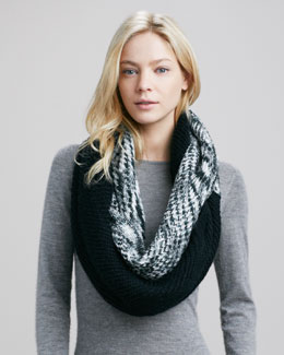 Michael Stars Block & Marl Eternity Scarf