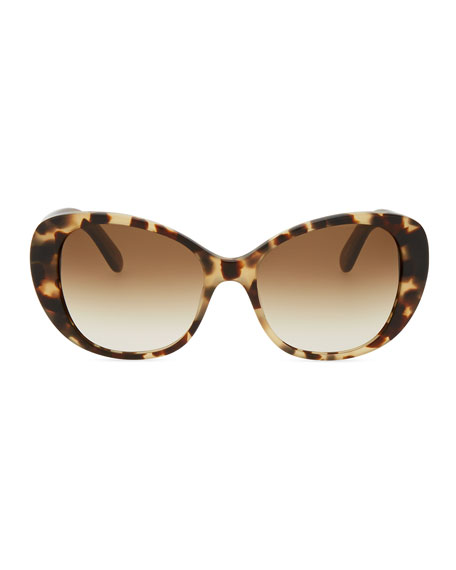 emery cat-eye sunglasses, camel tortoise