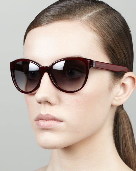 Tortoise Cat-Eye Sunglasses, Red Havana