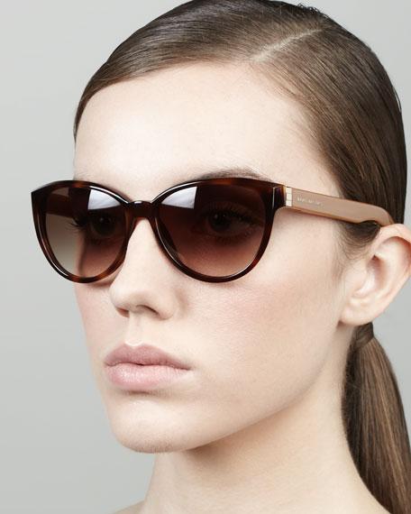 Tortoise Cat-Eye Sunglasses, Havana