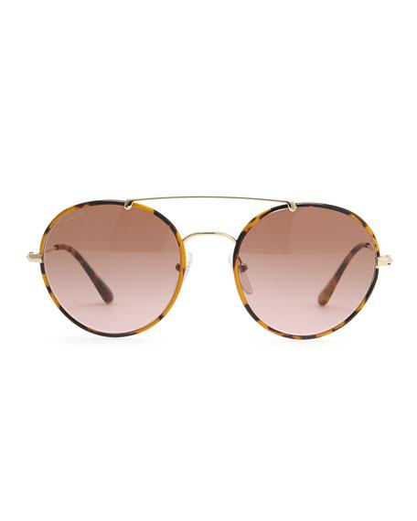 Catwalk Round Aviator Sunglasses