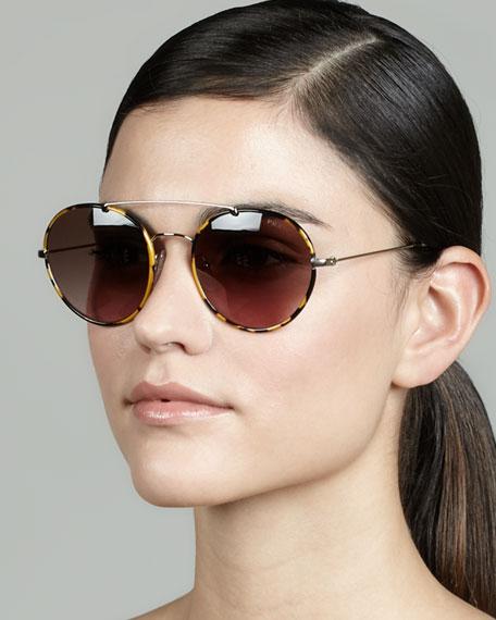 All about women fashion designer clothing and the latest fashion - Prada Catwalk Round Aviator Sunglasses