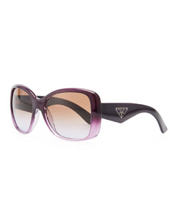 Prada Heritage Logo Square Sunglasses, Violet