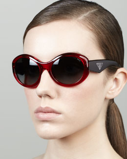Prada Heritage Polarized Sunglasses, Bordeaux