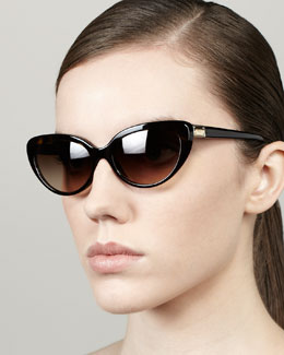 D&G Polarized Cat-Eye Sunglasses, Havana